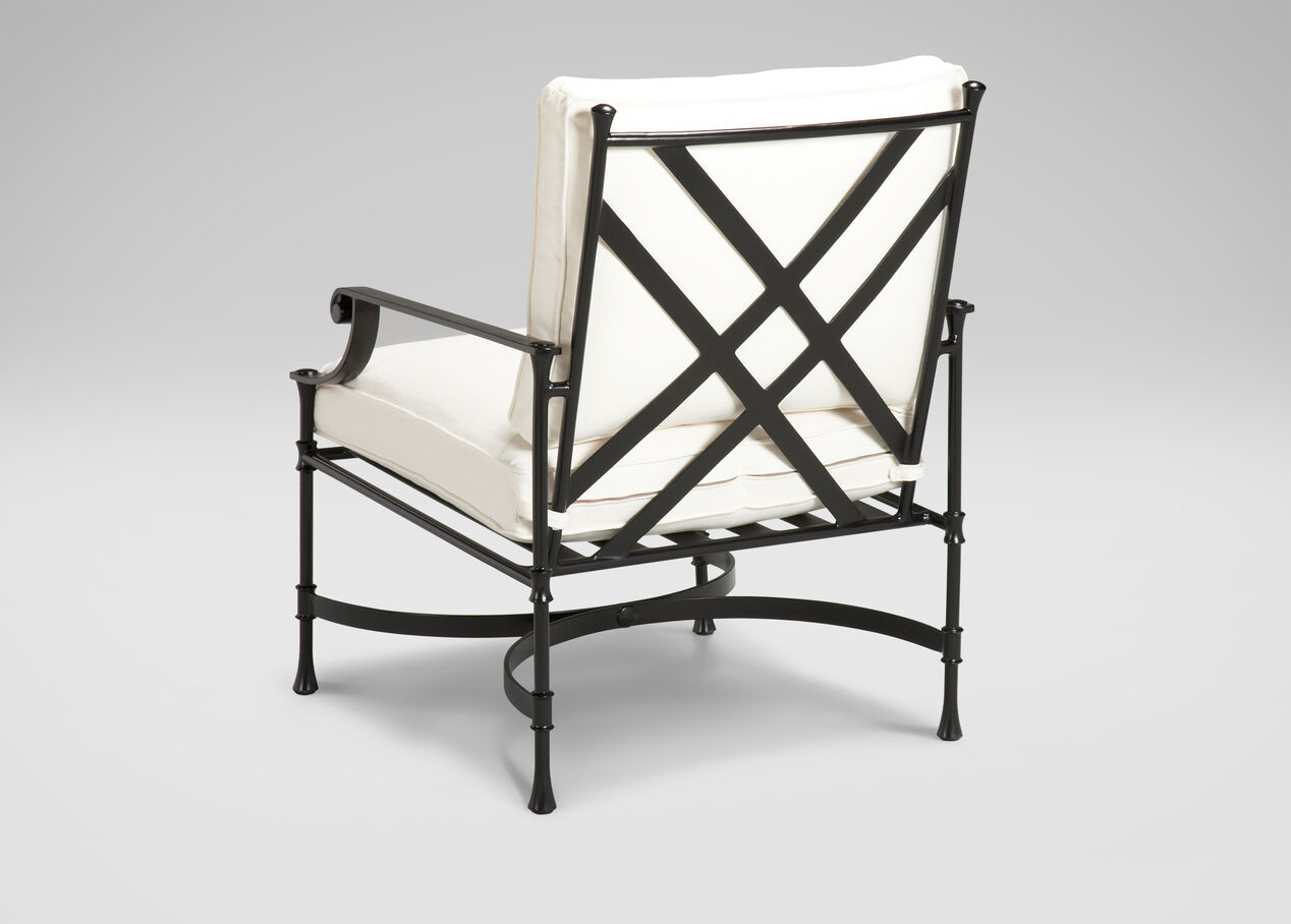 Metal outdoor club chairs - Biscayne Club Chair Alt