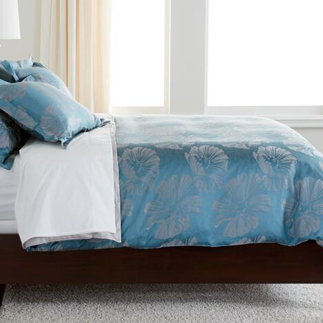 Susana Blue Floral Duvet Cover ,  , large