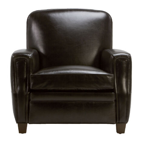Dean Leather Chair, Anson Black , , large - Shop Living Room Chairs & Chaise Chairs Accent Chairs Ethan Allen