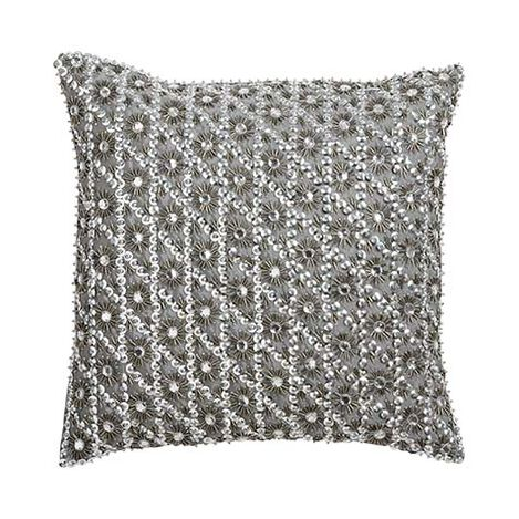 Silver Embellished Pillow ,  , large