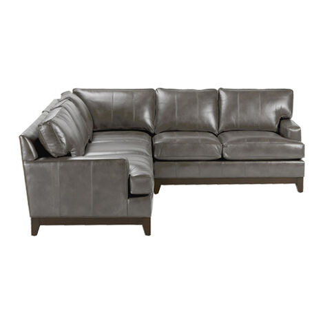 Shop sectionals leather living room sectionals ethan allen for Leather sectional sofa ethan allen