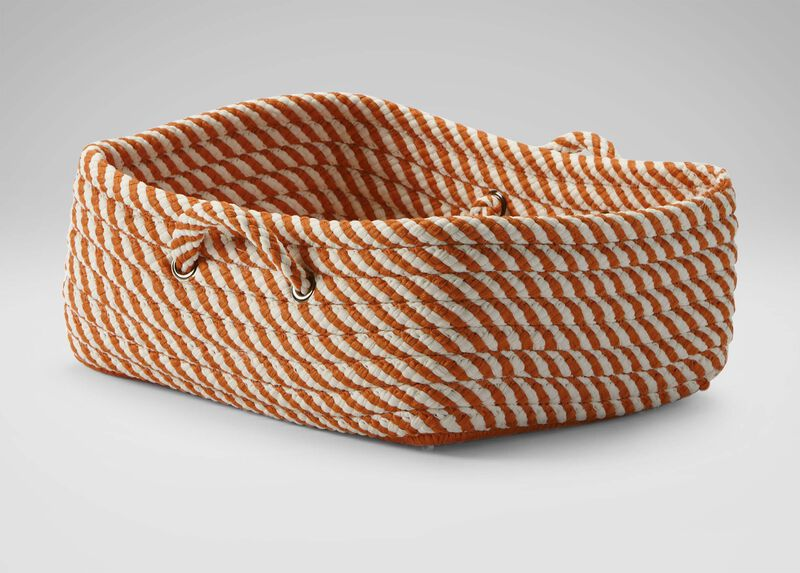 Small Orange and White Basket ,  , large_gray