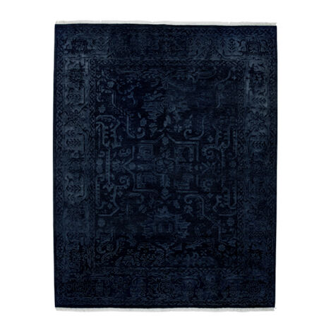 Heriz Deconstructed Rug, Navy ,  , large