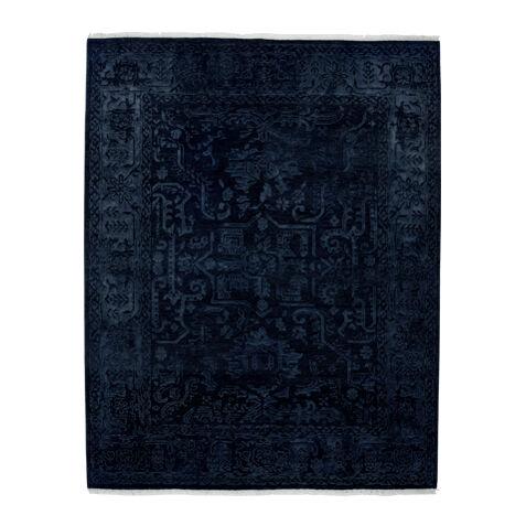 Heriz Deconstructed Rug, Navy , , Large