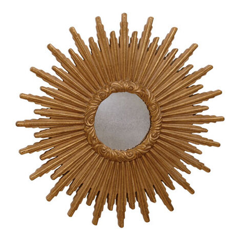 "24"" Gold Starburst Mirror ,  , large"