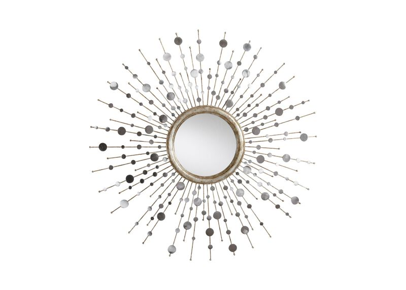 Silver Toned Soleil Mirror ,  , large_gray