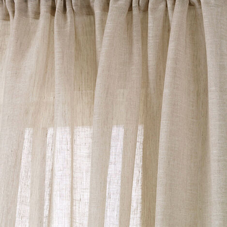 Natural Linen Sheer Fabric ,  , large