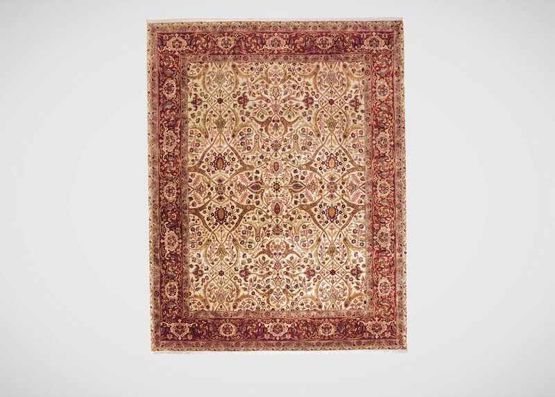 Isfahan Rug, Ivory/Red ,  , large_gray