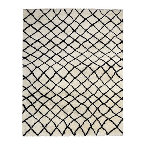 Coaxial Rug, Ivory/Black ,  , large