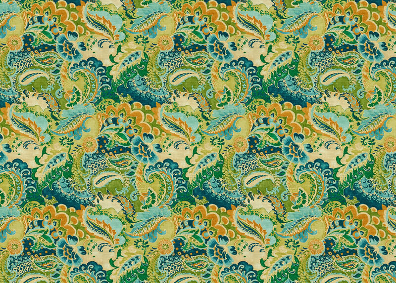 Jasmin Teal Fabric by the Yard ,  , large_gray