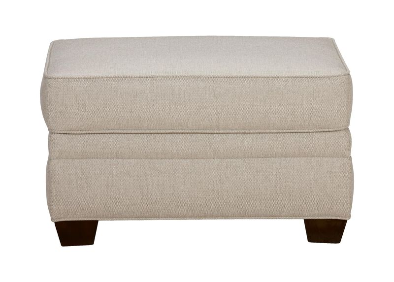 Bennett Ottoman, Quick Ship , Hailey Oatmeal (Q1033), solid texture , large_gray
