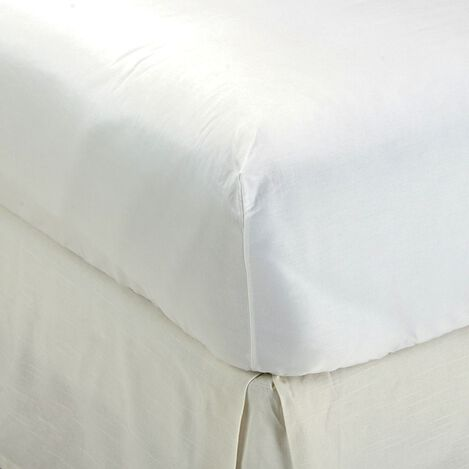 White Twin Fitted Sheet ,  , large