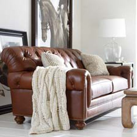 Quick Shop - Shop Sofas And Loveseats Leather Couch Ethan Allen
