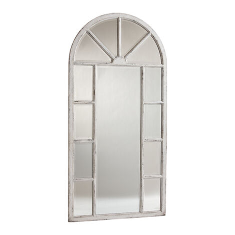 Antique White Cypress Floor Mirror ,  , large