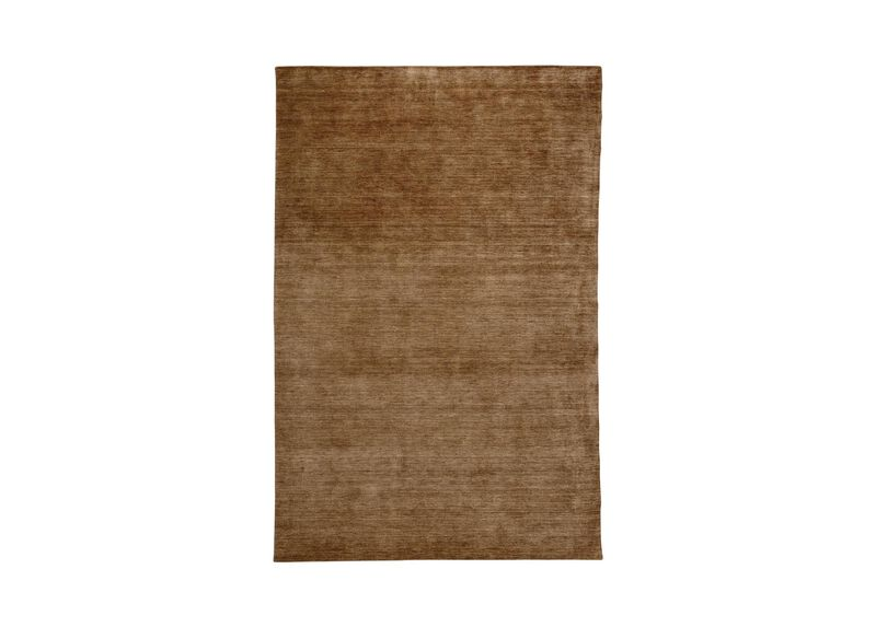 Loomed Wool Rug Taupe Solid Rugs