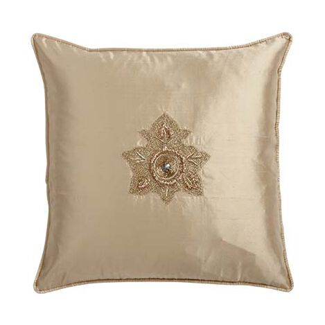 Silk Pillow with Zardozi Embroidery ,  , large