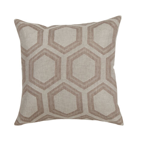 Geometric Linen Pillow, Taupe ,  , large