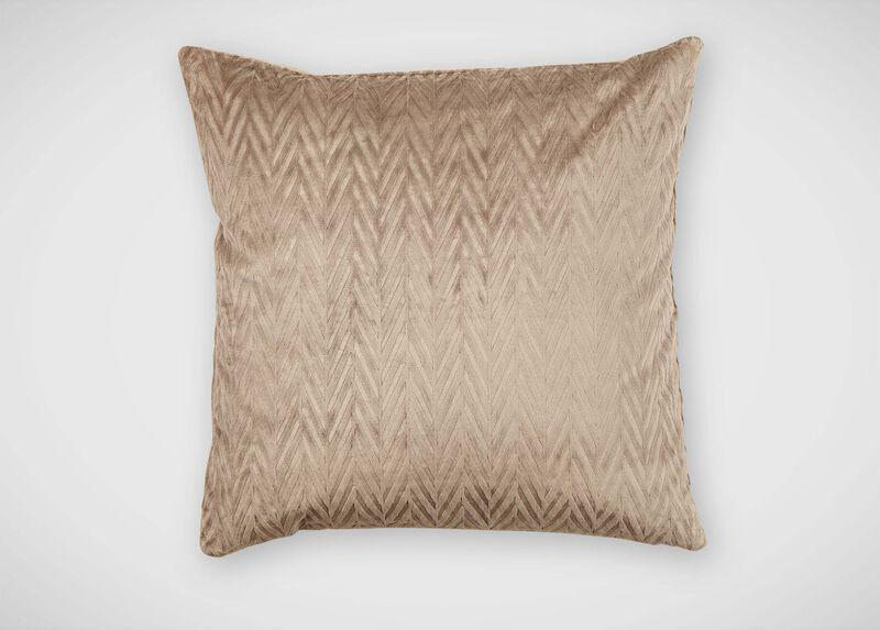 Chevron Velvet Pillow, Taupe ,  , large_gray
