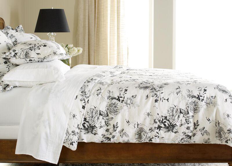 Ava Rose Linen Full/Queen Duvet Cover ,  , large_gray