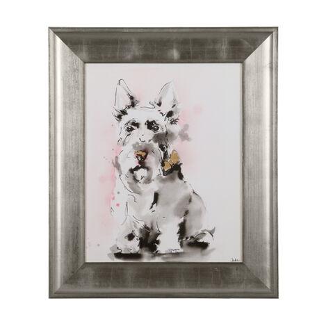 Glamour Dog Sketch V, Silver ,  , large