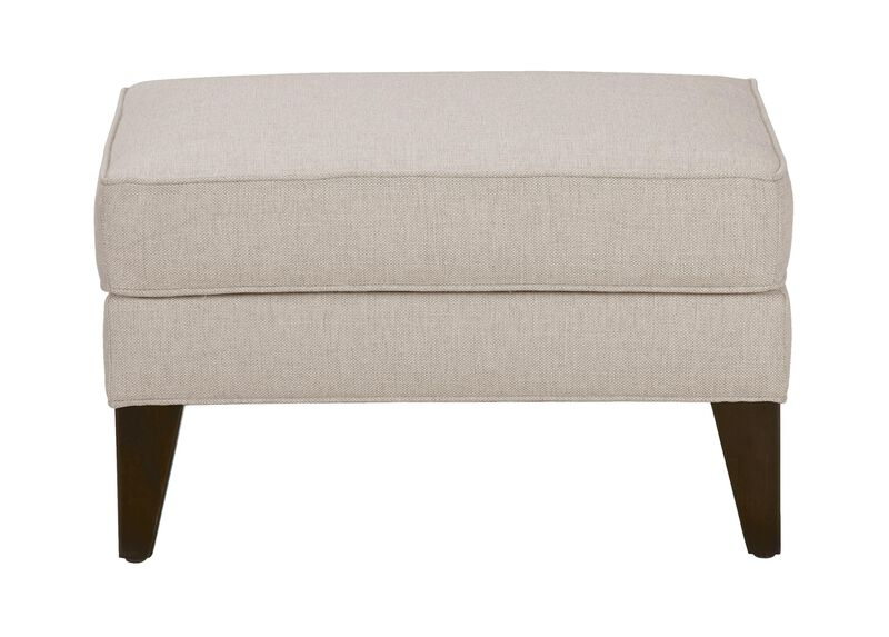 Emerson Ottoman, Quick Ship , Hailey Oatmeal (Q1033), solid texture , large_gray