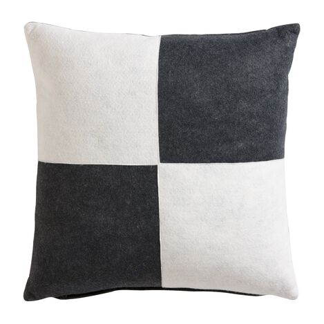 Charcoal and White Quad Pillow ,  , large