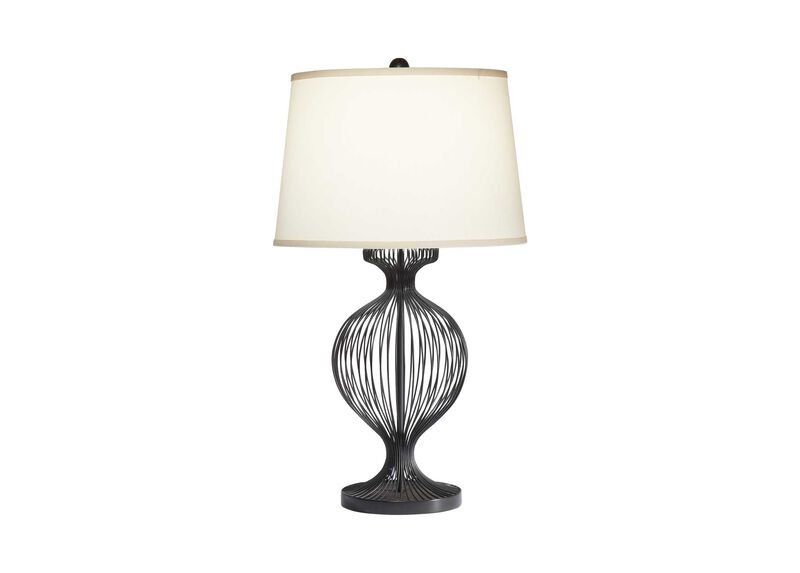 Kenzie Black Cage Table Lamp ,  , large_gray