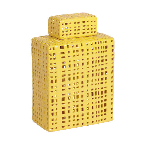 Mustard Lattice Jar ,  , large