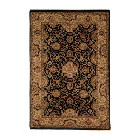 Sultanabad Rug, Black/Gold ,  , large