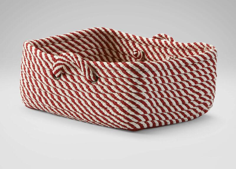 Small Red and White Basket ,  , large_gray