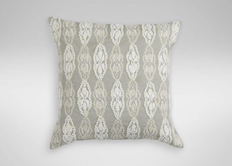 Giorgina Embroidered Decorative Pillow ,  , large_gray