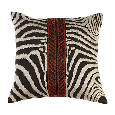 Modern Banded Zebra Pillow ,  , large