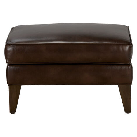 Emerson Leather Ottoman, Quick Ship ,  , large