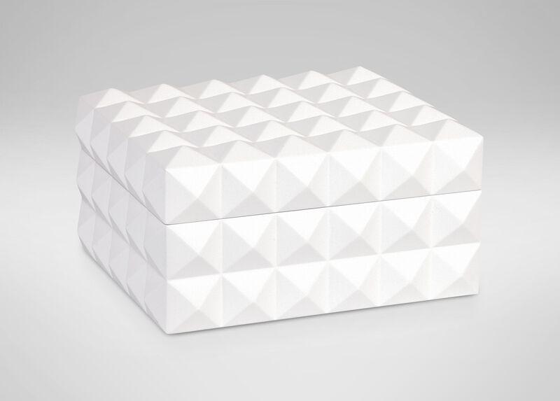 White Studded Box ,  , large_gray