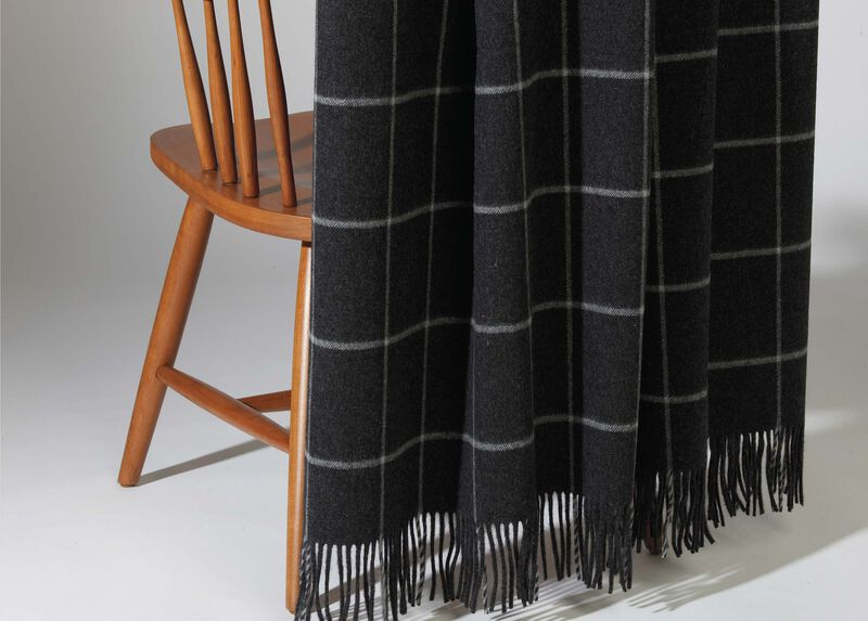 Quin Black Windowpane Throw ,  , large_gray