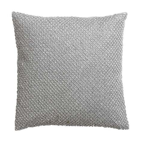 Silver Beaded Pillow ,  , large