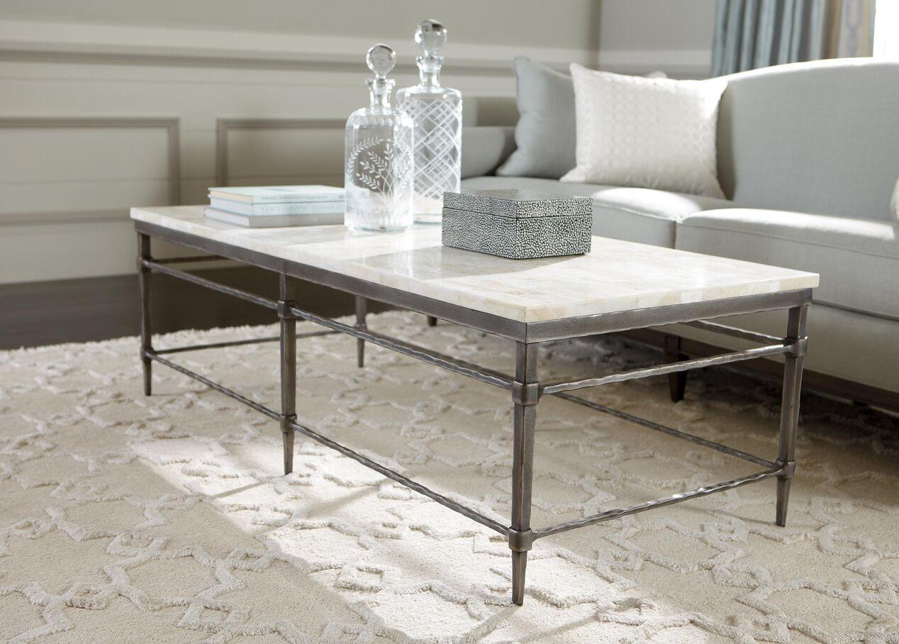 Vida Stone-Top Coffee Table , , alt - Vida Stone-Top Coffee Table Coffee Tables