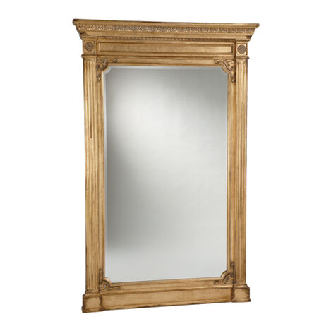 Antique Gold Madeleine Trumeau Floor Mirror ,  , large
