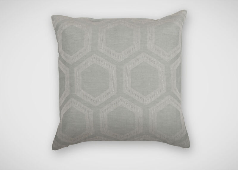 Geometric Linen Pillow, Mineral ,  , large_gray