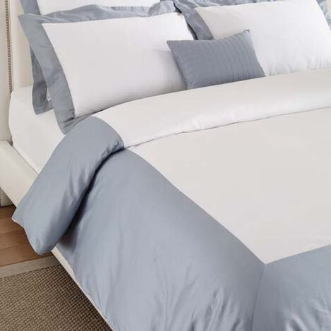 Wexford Full/Queen Duvet Cover, White/Wilton Blue ,  , large