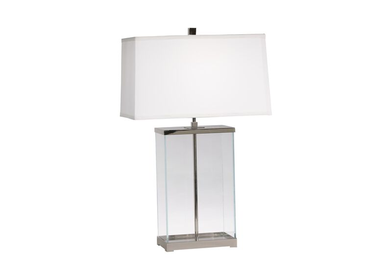 Rectangular Glass Table Lamp ,  , large_gray