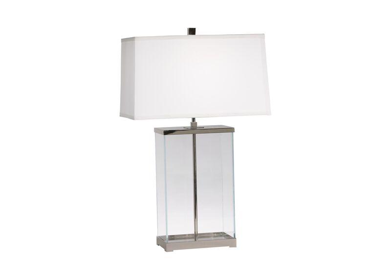 Rectangular Glass Table Lamp ,  , large_gray
