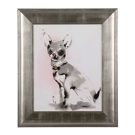 Glamour Dog Sketch III, Silver ,  , large