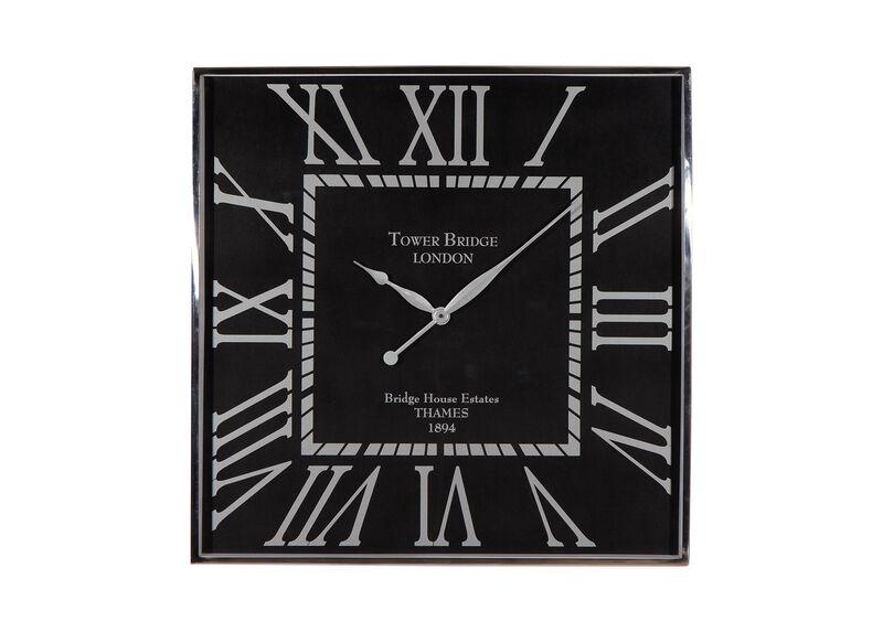 Nickel and Black Wall Clock ,  , large_gray