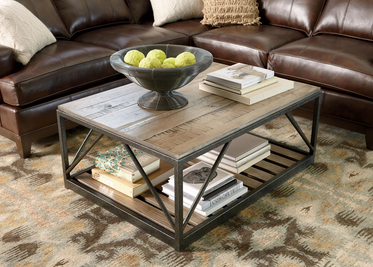 beam metal base coffee table coffee tables. Black Bedroom Furniture Sets. Home Design Ideas