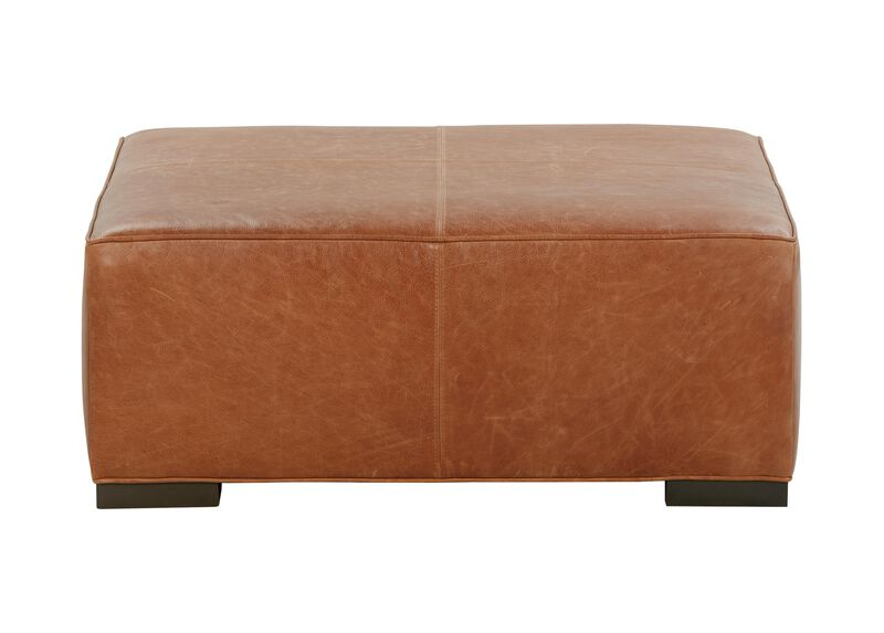 Miles Leather Cocktail Ottomans ,  , large_gray