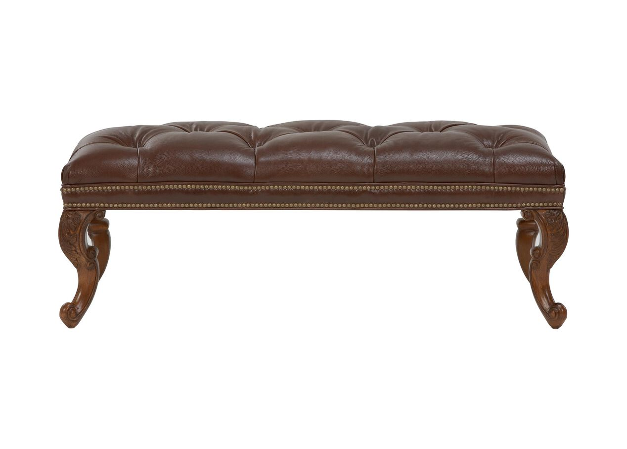 landon leather benches  ottomans  benches - landon leather benches   largegray