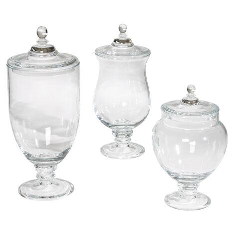 darcy glass jars large - Decorative Glass Jars