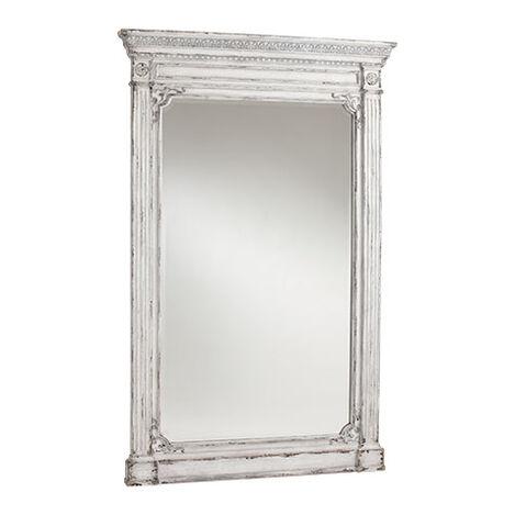 Antique White Madeleine Trumeau Floor Mirror ,  , large