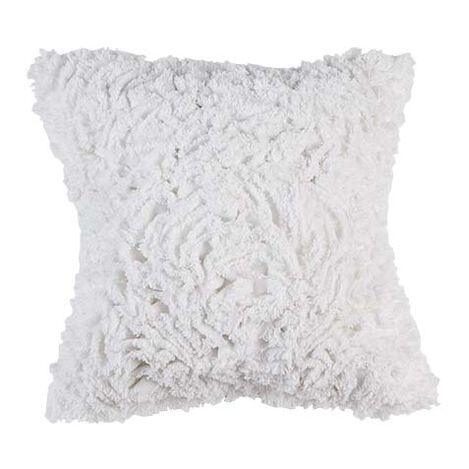Ruffled White Pillow ,  , large